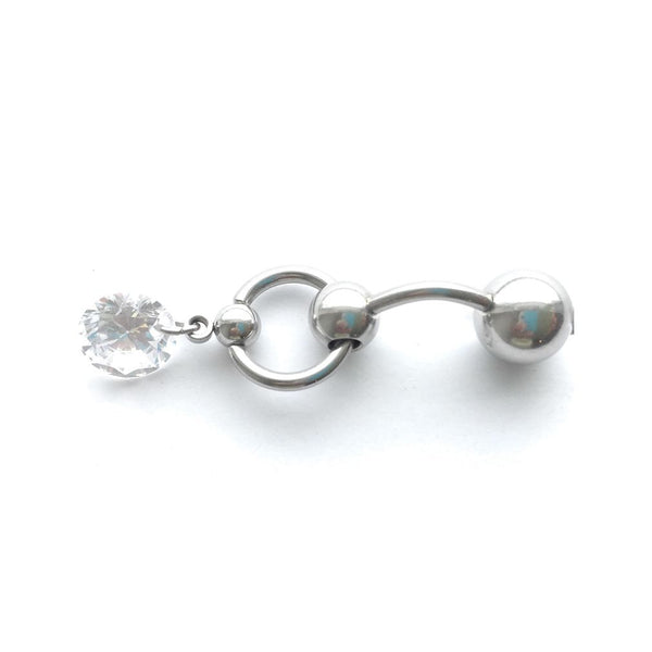 Pretty Dangle Gem VCH HEAVY BALL Piercing Barbell for EXTRA PRESSURE.