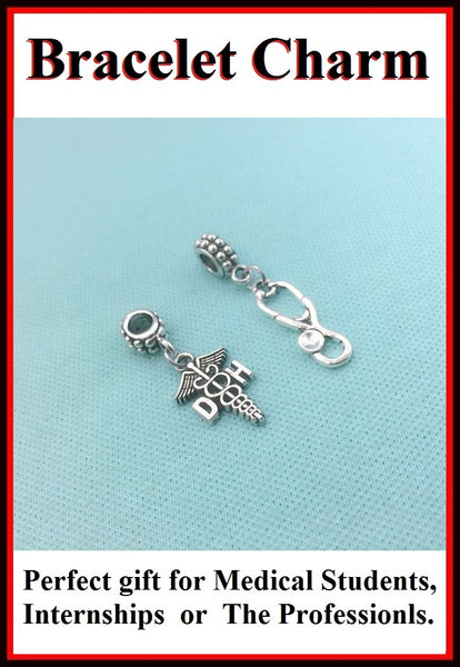 Medical Bracelet Charms : Dental Hygienist and  Stethoscope Charms.
