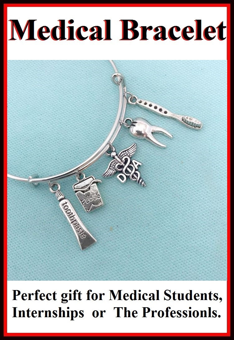 Medical Bracelet : DA Related Charms Expendable Bangle.