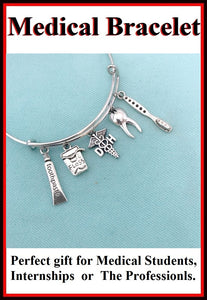 Medical Bracelet : DH Related Charms Expendable Bangle.