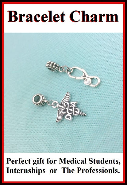 Medical Bracelet Charms : Dental Assistant and Stethoscope Charms.