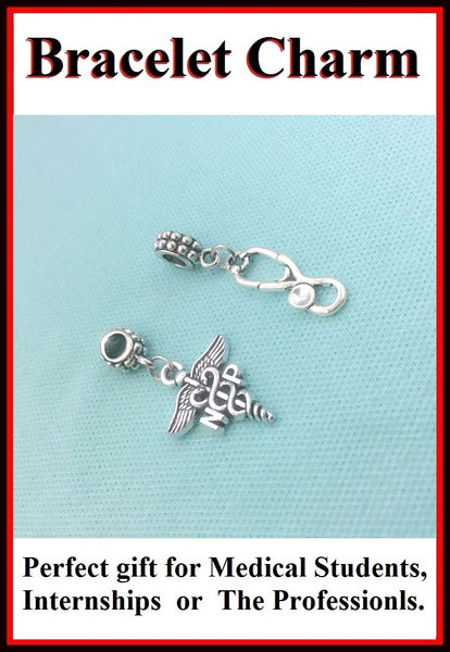 Medical Bracelet Charms : Nurse Practitioner and Stethoscope Charms