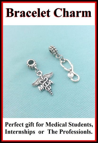 Medical Bracelet Charms : Medical Assistant & Stethoscope Charms.
