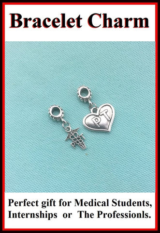 Medical Bracelet Charms : Physical Therapist (PT) charms.