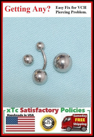Sterilized 14g VCH Barbell with 6,8 and 10mm balls.