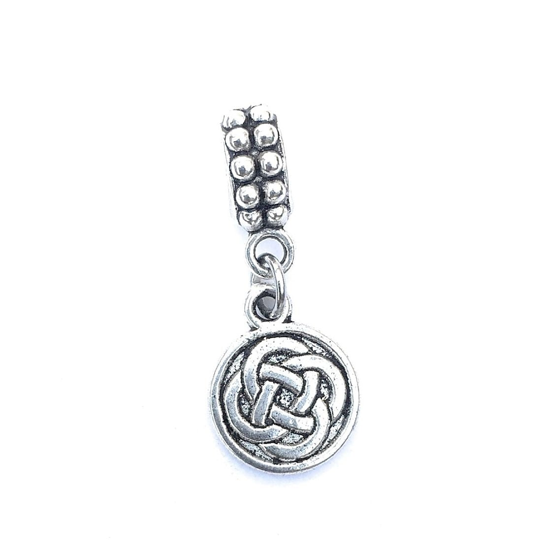 Silver Irish Knots Charm Bead for European and American Bracelet.