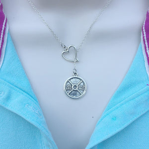 I Love to Exercise Silver Lariat Y Necklace.