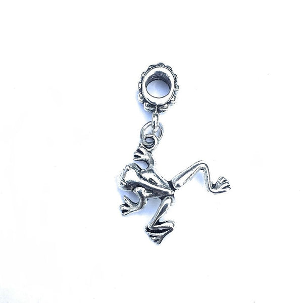Silver Frogs Charm Bead for European and American Bracelet.