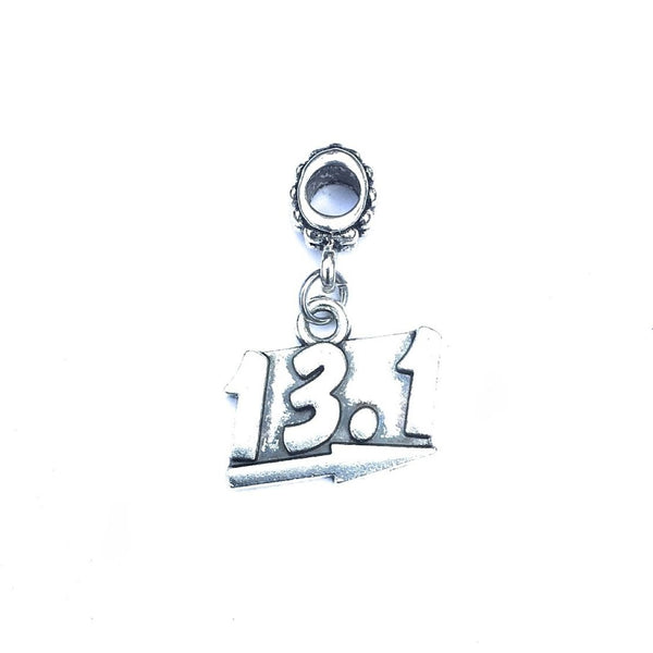 Silver 13.1 Charm Bead for European and American Bracelet.