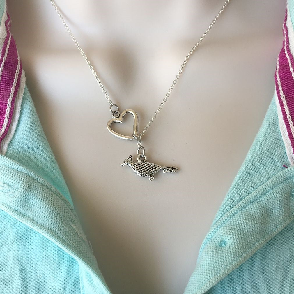 Beautiful Bird Silver Lariat Y Necklace.