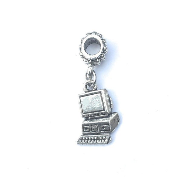 Handcrafted Desk Top Computer Charm Bead for Bracelet.