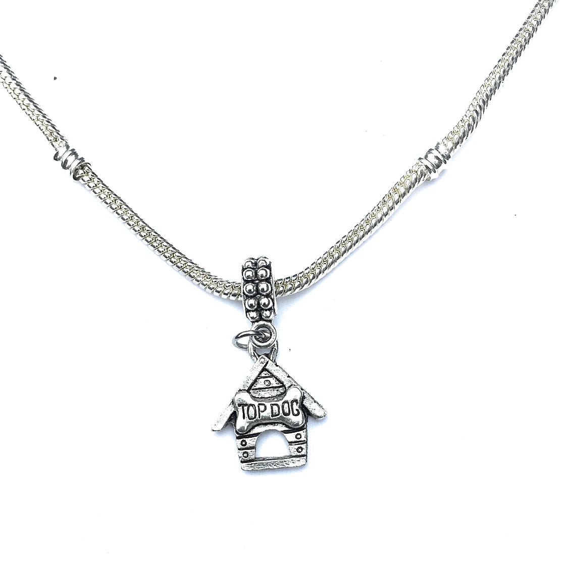 Silver  Dog House Charm Bead for Bracelet.