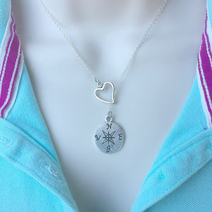 I Love Wondering Silver Lariat Y Necklace.