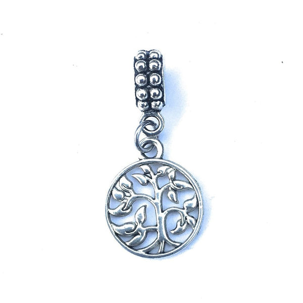 Silver Tree of Life Charm Bead for Bracelet.