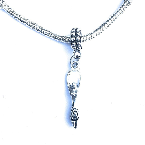 Silver Goddess Charm Bead for Bracelet.