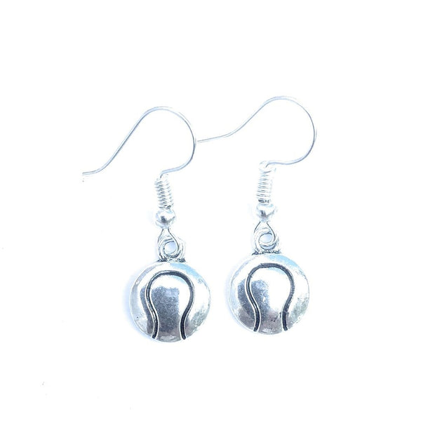 Beautiful Tennis Ball Silver Earrings. Player Gift. Team Gift.