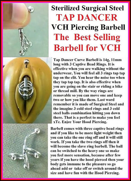 Sterilized 14g TAP Dancer Barbell for VCH Piercing.