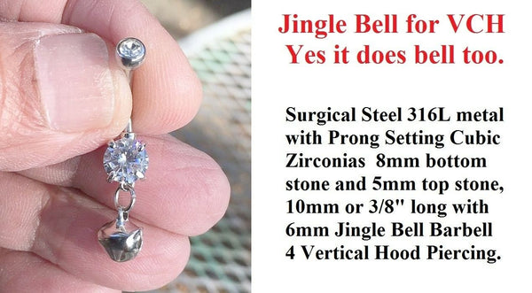 Jingle Bell, It bells for Vertical Hood Piercing.