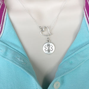 I Love Being Star of Life Handcrafted Necklace Lariat Y Style.