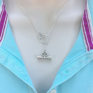 I Love My Diploma Handcrafted Silver Lariat Y Necklace.