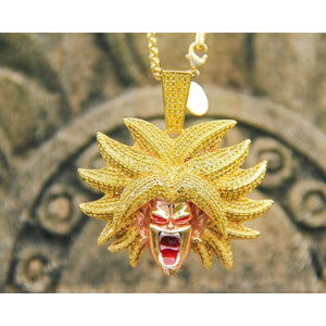 14K Gold Broly Pendant - Accessories