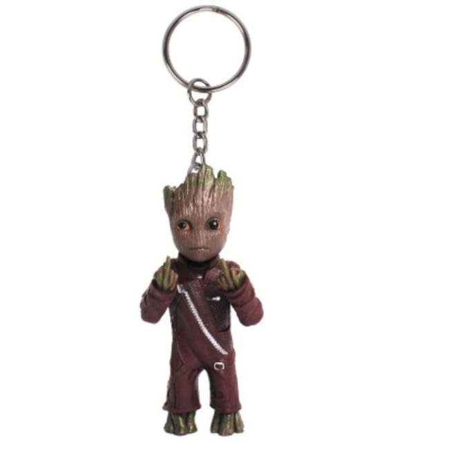 Baby Groot Keychains - Middle Finger Groot - Accessories