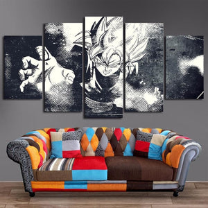 Black & White Goku Dragon Ball Canvas