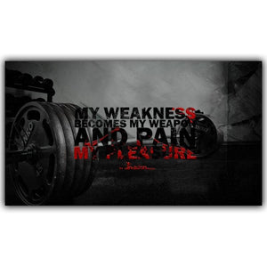 Every Way Inspirational Motivational Poster Bodybuilding Poster Fabric Silk Poster Printing Home Decoration YD139