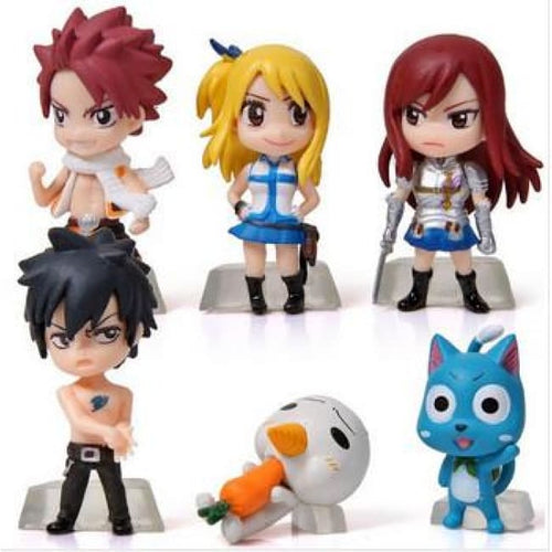 Fairy Tail 6 Pcs/set - Figures