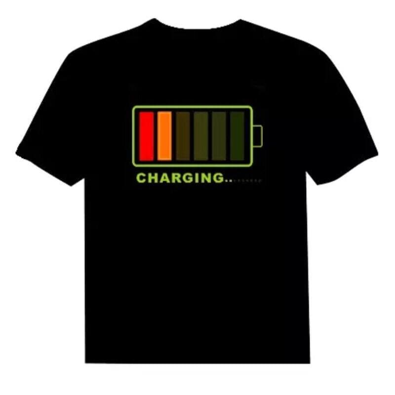 Flashing Led T-Shirt - S - Clothing