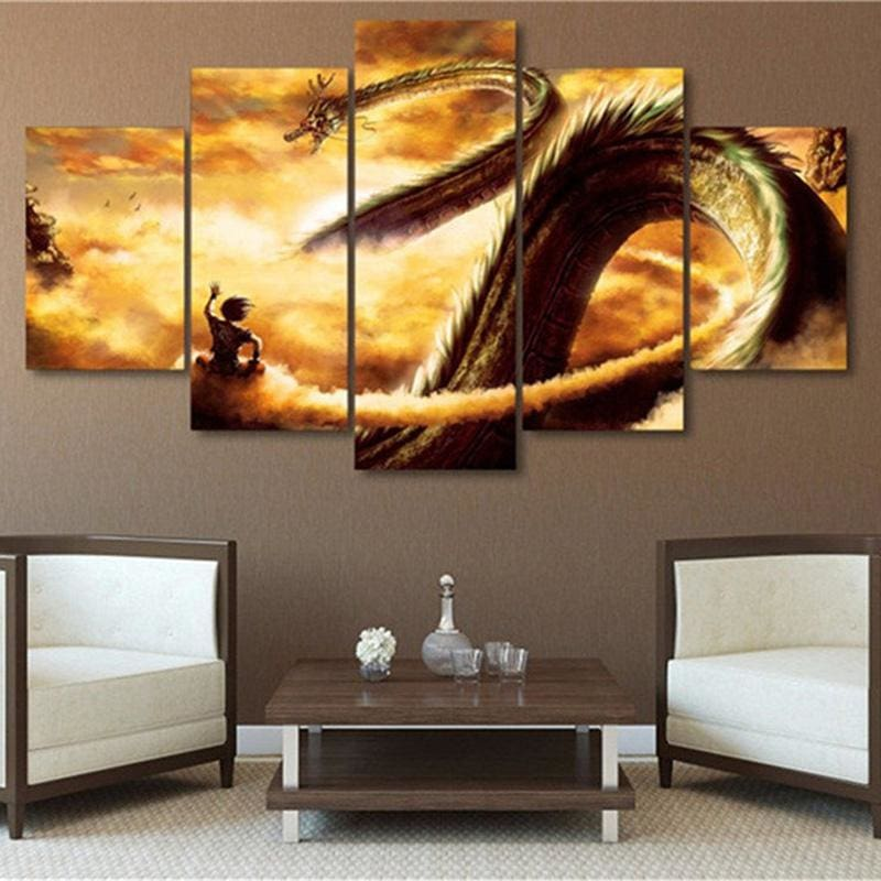 Goku Ride Along Shenron - wall poster