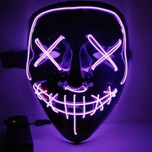 Light Up Purge Mask - United States / Violet - Accesories