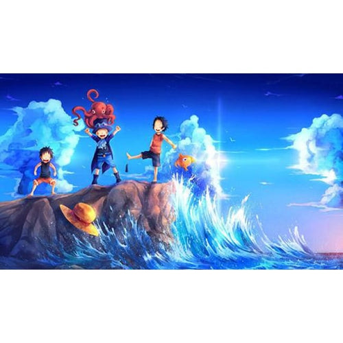 Luffy Ace Sabo Wave Brothers - 45x30cm frameless / pic 3 - Wall Poster