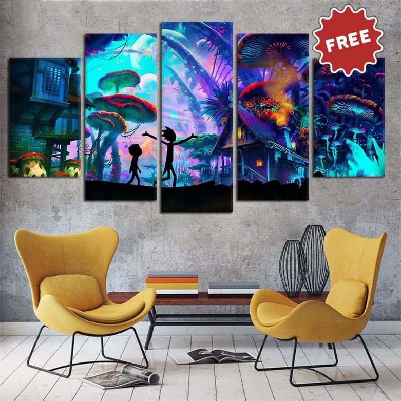 TokyoEnt™ - R&M Adventure 5-Piece Premium Canvas