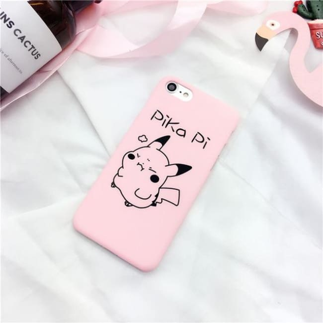 Pika Pi Pikachu Iphone Case - Pink / For Iphone 5 5S Se
