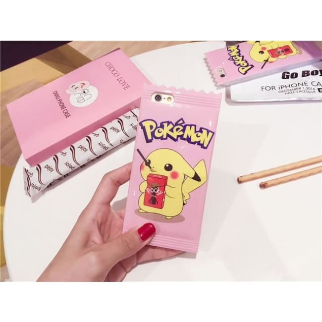Pink Cute Pikachu Iphone Case - For Iphone 6 6S
