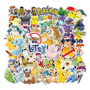 50pcs Mixed Pokémon Stickers