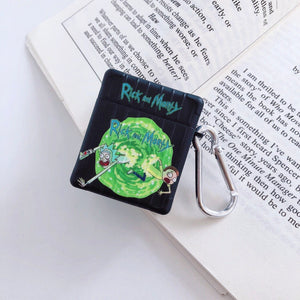 Rick & Morty Airpod Cases Vitnage Style