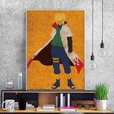 Retro Naruto Paintings - Wall Poster