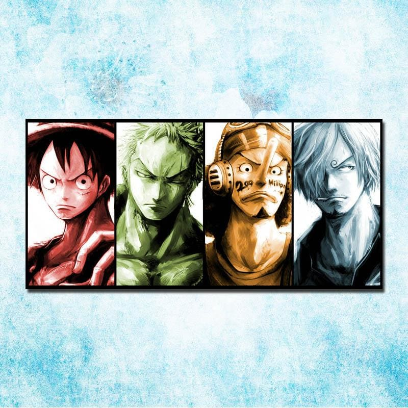 Straw Hats Big 4 - Wall Poster