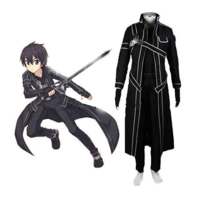 Sword Art Online Kirito Cosplay Costume - Include All / Xs - Clothing