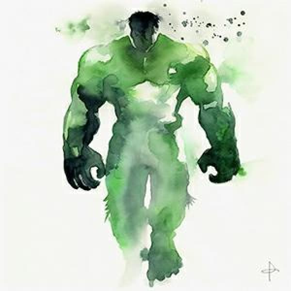 The Mightiest Heros - 30x30cm frameless / The Hulk