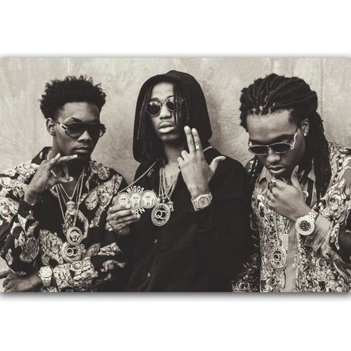 Three Migos - 20x30 - Wall Poster