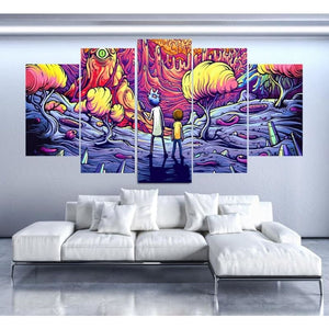 Wavy Dreams R&M 5-Piece Canvas
