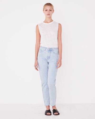 High Waist Rigid Jean - Pacific Blue