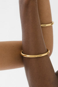 Goldie Tube Bangle - 14k Vermeil Gold