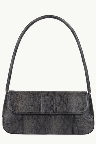 The Camille Bag - Dark Taupe Snake Skin