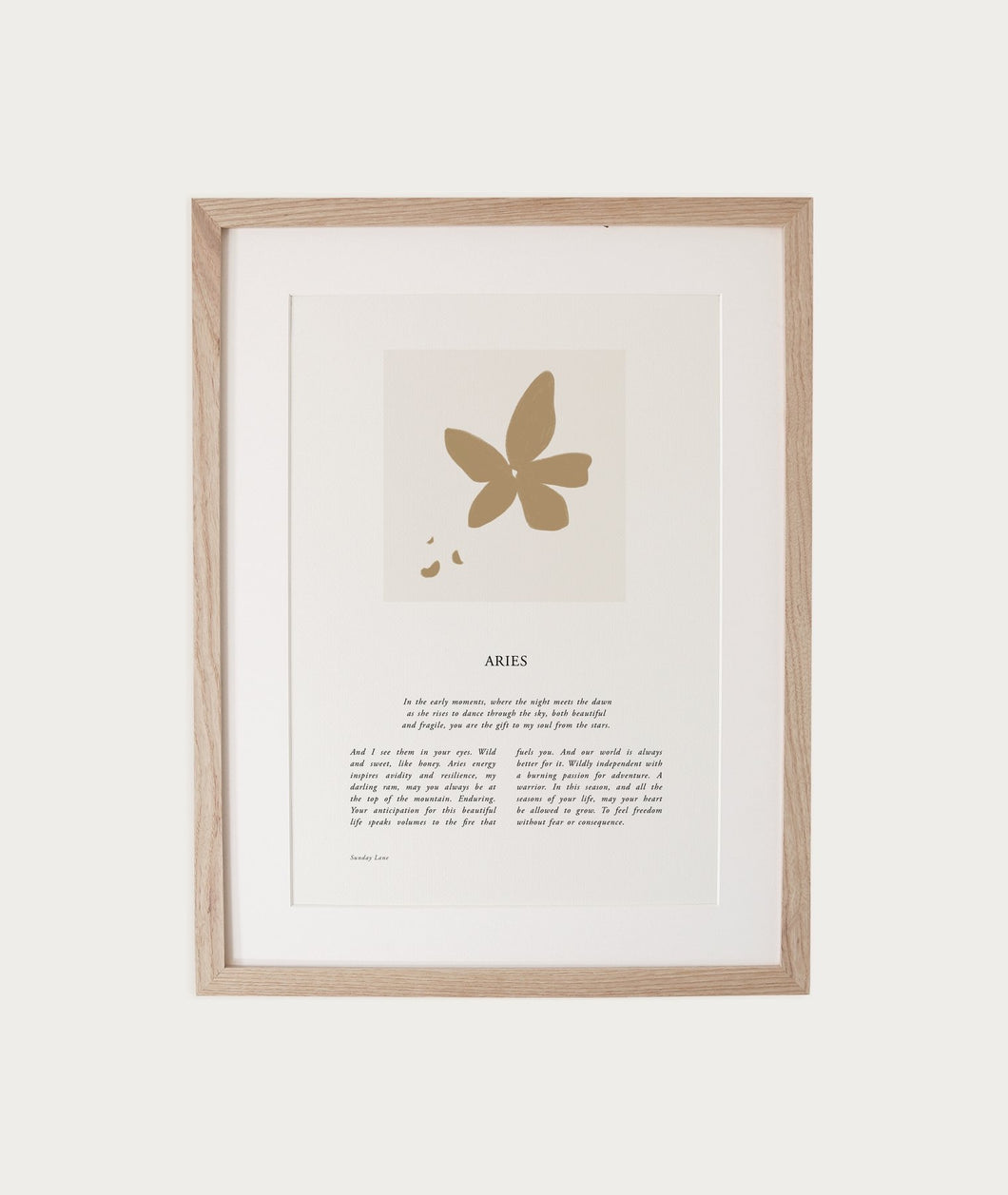 Sunday Lane Zodiac A4 Print - Aries 04