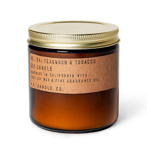 Teakwood & Tobacco Candle - P.F Candle Co