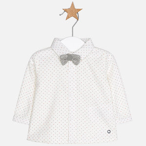 Baby Boy Long Sleeved Shirt with Bowtie
